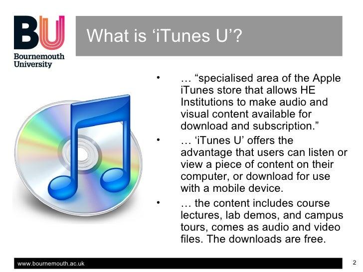iTunes U, Education