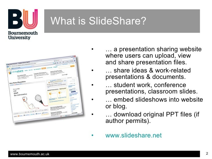 using slideshare