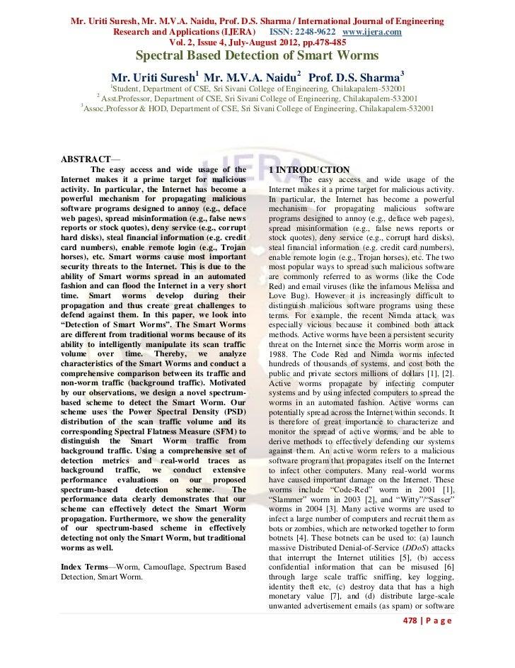 Mr. Uriti Suresh, Mr. M.V.A. Naidu, Prof. D.S. Sharma / International Journal of Engineering             Research and Appl...
