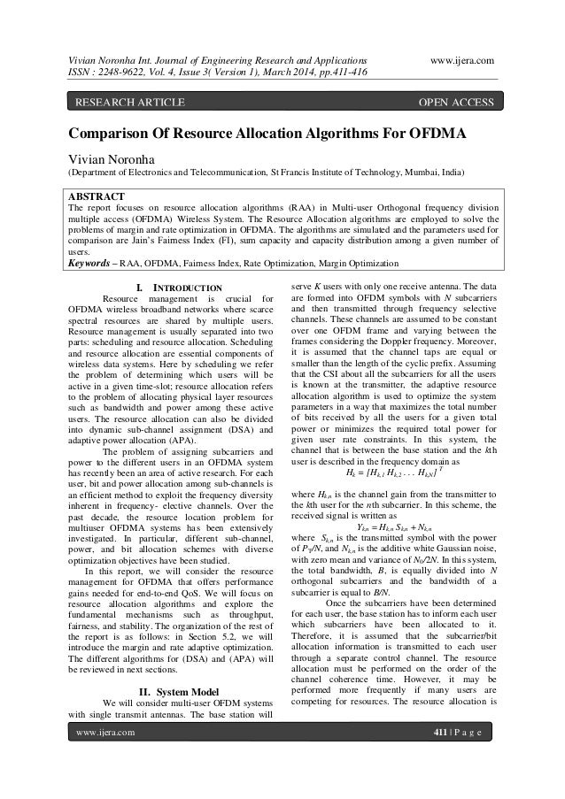 Vivian Noronha Int. Journal of Engineering Research and Applications www.ijera.com ISSN : 2248-9622, Vol. 4, Issue 3( Vers...