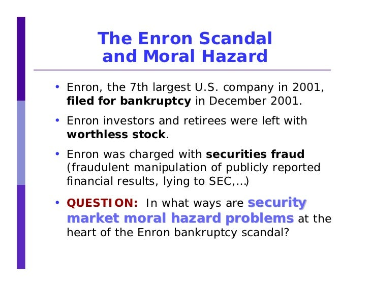 conclusion of enron scandal Enron scandal enron scandal muhammad umair university of economics, prague umairgulzar@msncom +420 776 475 111 1/6/2013 presented to: prof josef tauser report of finance final project presentation introduction and history of enron: enron, business based inside houston, controlled one of many major natural gas transmission networks inside the united states, amassing over thirty seven, 000 miles, not only is it the best internet marketer involving natural gas and also energy in the usa.