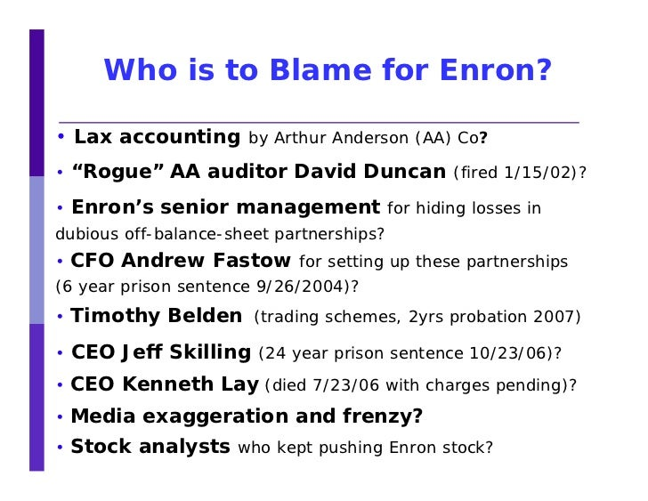 The Failures Of Recognizing Enron S Problem Accounting Essay