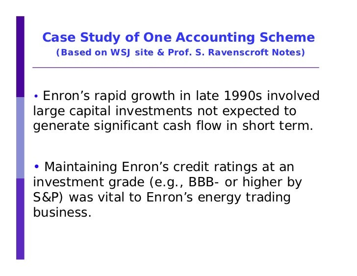 a case study on enron corporation Running head: enron case study 1 enron case study acc 646 deddy priyo ekwandono richard white, ms, msa, cpa, cma, cia, cfp, cfm, cfe southern new hampshire university october 9th, 2016 2 enron case study i introduction the fall of enron corporation from a leading energy corporation into bankruptcy in 2001.