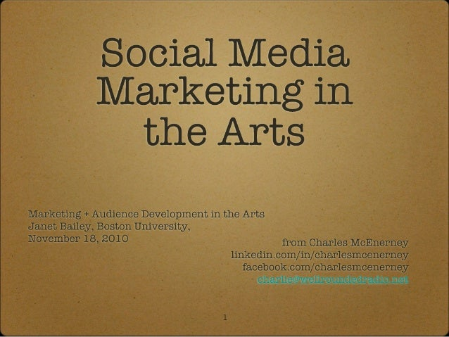 Social Media Marketing in the Arts