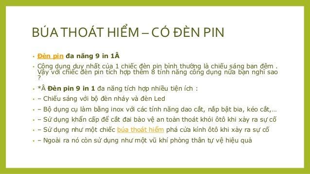 BÚA THOÁT HIỂM CHO XE OTO CÓ ĐÈN PIN Slide 3