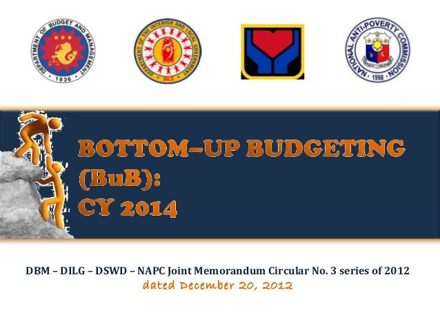 DBM – DILG – DSWD – NAPC Joint Memorandum Circular No. 3 series of 2012  dated December 20, 2012