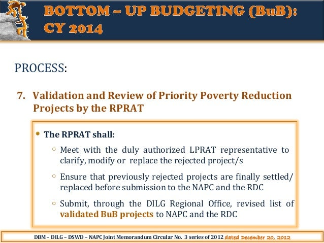 project management and bottom up budgeting Their organization as bottom-up (eg, berge and kearsley, 2003)  distance  training events are separate and introduced using project management  than a  top level sanction (mainly because of the budgets involved), and are not seen by.