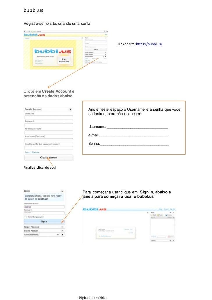 bubbl.usRegistre-se no site, criando uma conta                                                     Link do site: https://b...