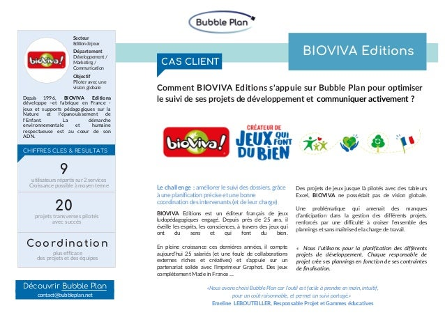 CHIFFRES CLES & RESULTATS Depuis 1996, BIOVIVA Editions développe –et fabrique en France - jeux et supports pédagogiques s...