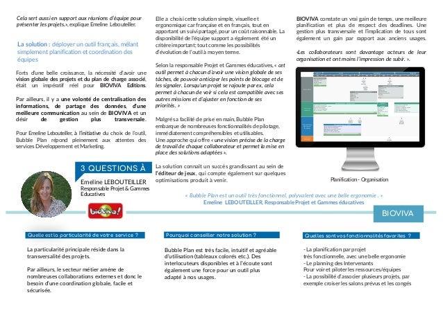 Cas Client - L'optimisation du management en Saas pour Bioviva Editions Slide 2