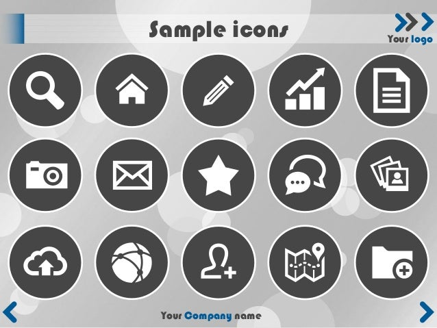 Sample icons         Your logo Your Company name