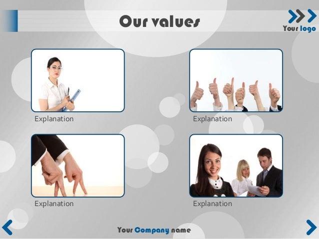 Our values                        Your logoExplanation                       ExplanationExplanation                       ...
