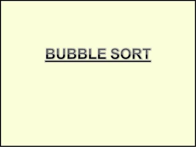 Bubble sort Slide 2