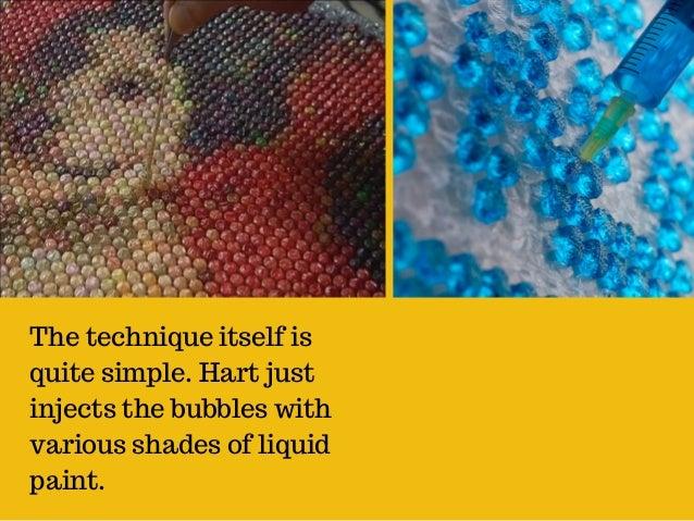 bubble wrap and paint bubble wrap art