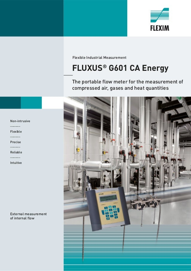 Non-intrusive ______ Flexible ______ Precise ______ Reliable ______ Intuitive FLUXUS® G601 CA Energy The portable flow met...