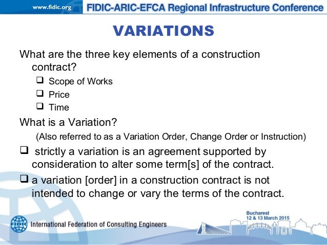 Variations Under The Fidic Form, Subject To Eu Procurement Law