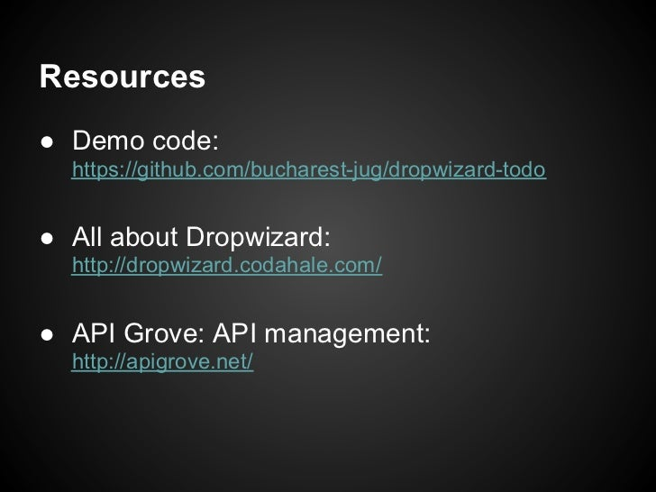 Simple rest with dropwizard for Consul java api