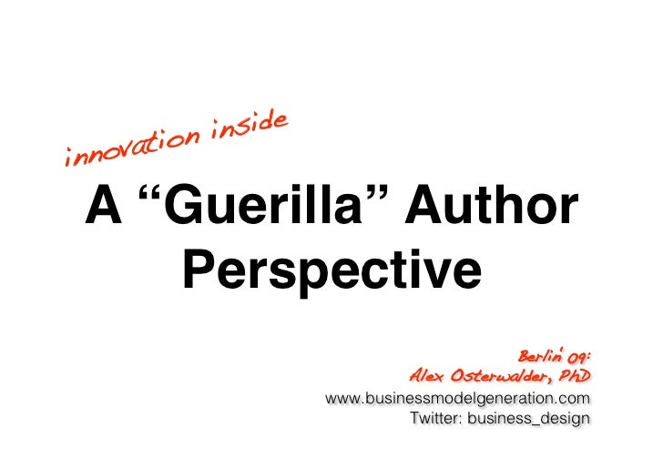 "n in side! inn ovatio   A ""Guerilla"" Author     Perspective                                 Berlin'09:!                   ..."