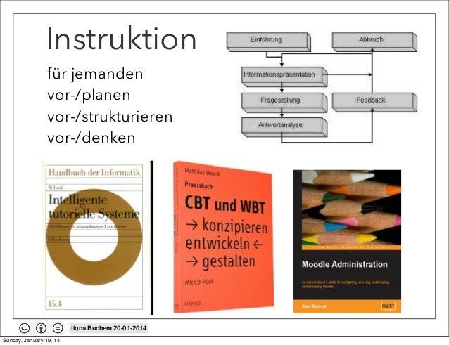 Instruktion für jemanden vor-/planen vor-/strukturieren vor-/denken  Ilona Buchem 20-01-2014 Sunday, January 19, 14