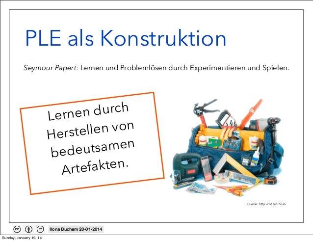 PLE als Konstruktion Seymour Papert: Lernen und Problemlösen durch Experimentieren und Spielen.  durch Lernen n von erstel...