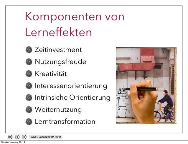 Komponenten von Lerneffekten Zeitinvestment Nutzungsfreude Kreativität Interessenorientierung Intrinsiche Orientierung Wei...