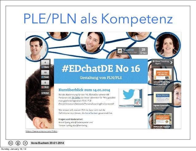 PLE/PLN als Kompetenz  https://www.smore.com/1nbn  Ilona Buchem 20-01-2014 Sunday, January 19, 14