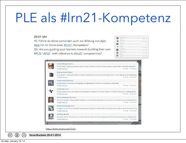 PLE als #lrn21-Kompetenz  https://www.smore.com/1nbn  Ilona Buchem 20-01-2014 Sunday, January 19, 14