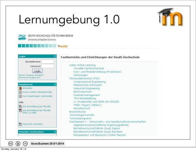 Lernumgebung 1.0  Ilona Buchem 20-01-2014 Sunday, January 19, 14