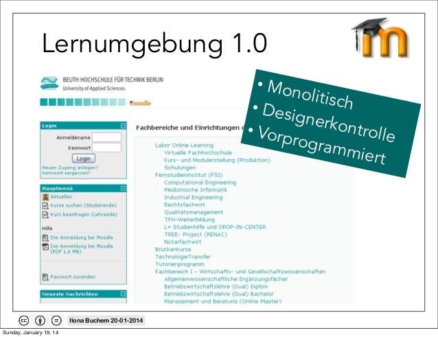 Lernumgebung 1.0 • Mon olitisc h • Desi gnerk ontrol • Vorp le rogram miert  Ilona Buchem 20-01-2014 Sunday, January 19, 1...