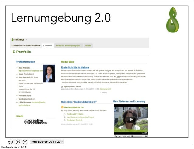 Lernumgebung 2.0  Ilona Buchem 20-01-2014 Sunday, January 19, 14