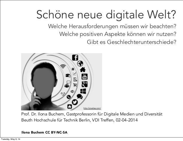 Prof. Dr. Ilona Buchem, Gastprofessorin für Digitale Medien und Diversität Beuth Hochschule für Technik Berlin, VDI Treffe...