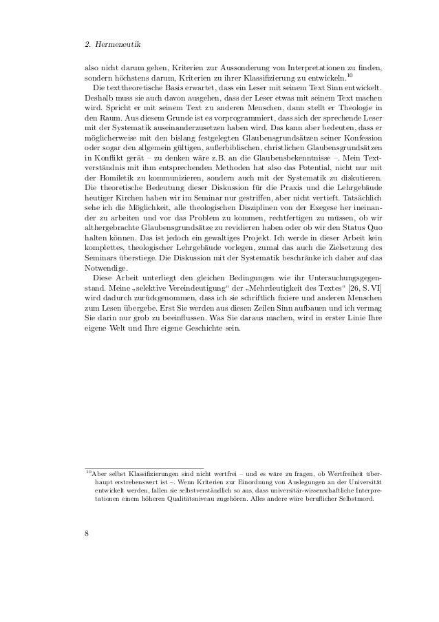 3. ExegeseWenn ein Text als vom Autor emanzipierte, selbst¨ndige Welt verstanden wird, worin                              ...