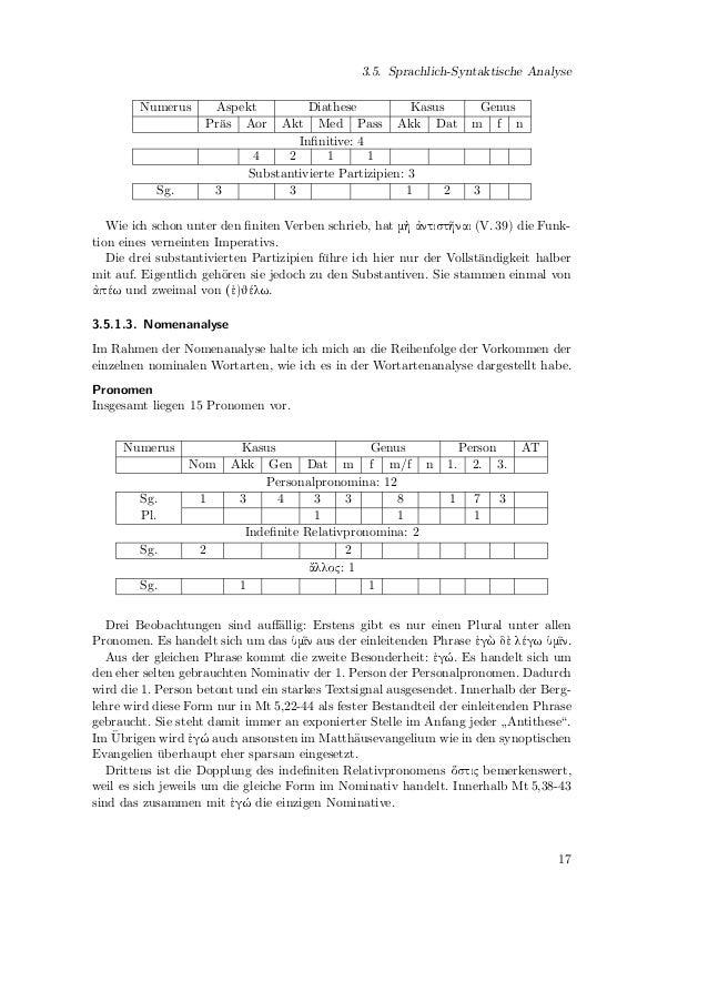 3. ExegeseSubstantiveInsgesamt liegen zw¨lf Substantive vor.                   o       Numerus             Kasus          ...