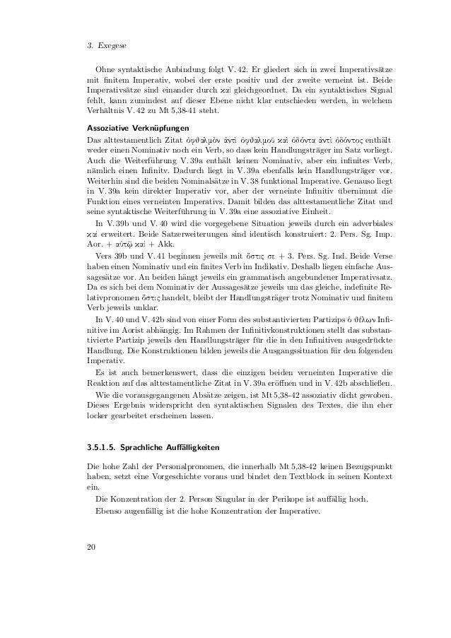 3.5. Sprachlich-Syntaktische Analyse3.5.2. Mt 5,43-483.5.2.1. Wortartenanalyse                                  Wortart   ...