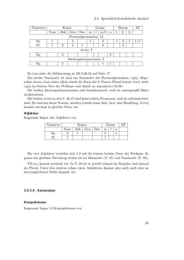 3. Exegese Konjunktion         Funktion                                              :   Anzahl                    Gleichr...