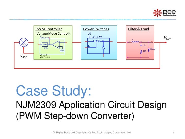 Case Study:NJM2309 Application Circuit Design (PWM Step-down Converter)<br />All Rights Reserved Copyright (C) Bee Technol...