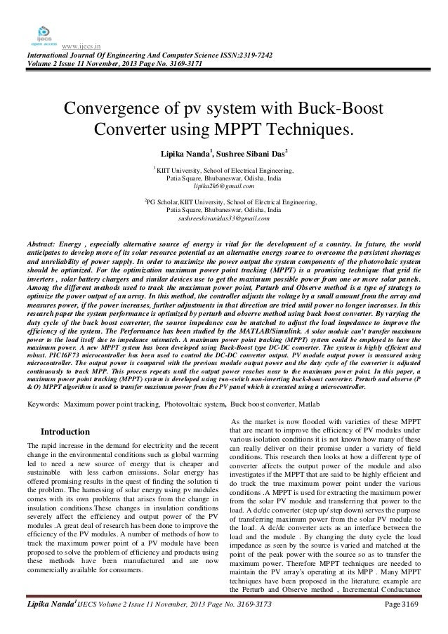 www.ijecs.in International Journal Of Engineering And Computer Science ISSN:2319-7242 Volume 2 Issue 11 November, 2013 Pag...