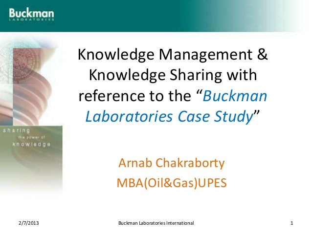 """Knowledge Management &            Knowledge Sharing with           reference to the """"Buckman            Laboratories Case ..."""