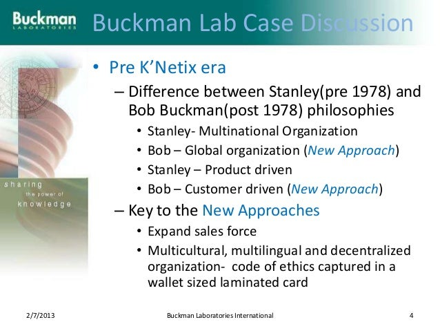 history of buckman laboratories knowledge and information technology company History of clia in response to  although the erroneous readings had occurred in federal laboratories,  however, to the best of this author's knowledge,.
