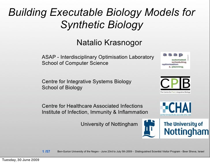 Building Executable Biology Models for               Synthetic Biology                                                 Nat...