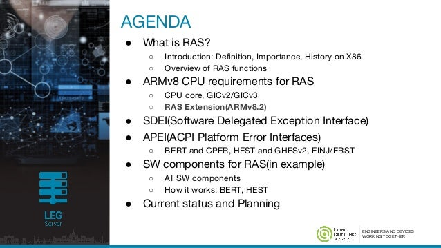bud17 209 reliability availability and serviceability ras on arm