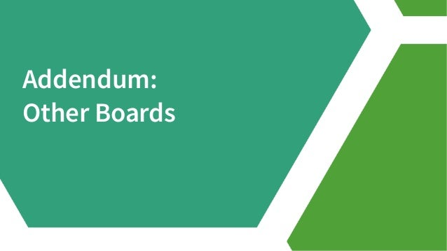 Addendum: Other Boards