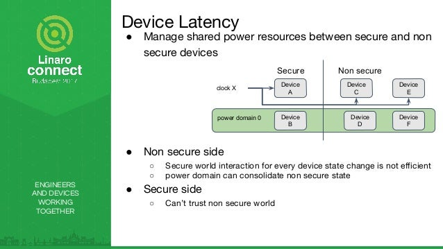 ENGINEERS AND DEVICES WORKING TOGETHER ● Manage shared power resources between secure and non secure devices ● Non secure ...