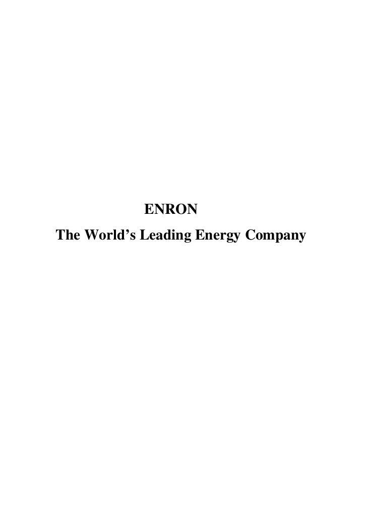 ENRONThe World's Leading Energy Company