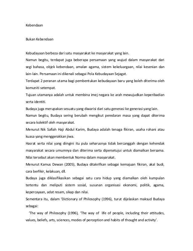 Karangan Kepelbagaian Kaum Di Malaysia