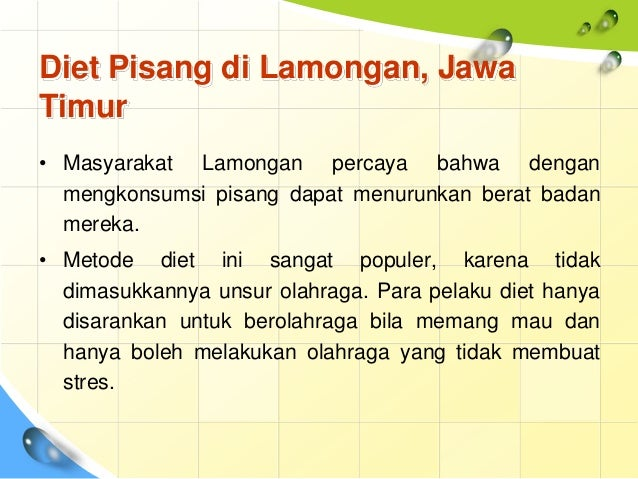 Budaya Diet di Indonesia