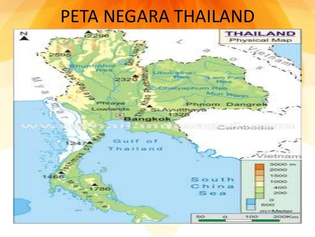 PETA NEGARA THAILAND