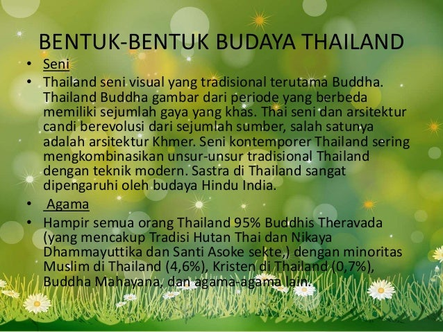 BENTUK-BENTUK BUDAYA THAILAND • Seni • Thailand seni visual yang tradisional terutama Buddha. Thailand Buddha gambar dari ...