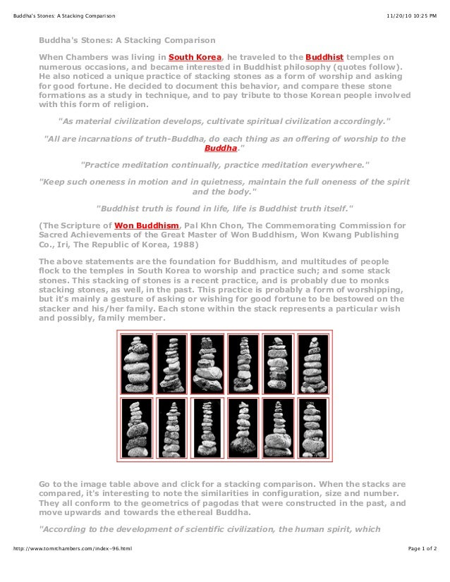 11/20/10 10:25 PMBuddha's Stones: A Stacking Comparison Page 1 of 2http://www.tomrchambers.com/index-96.html Buddha's Ston...
