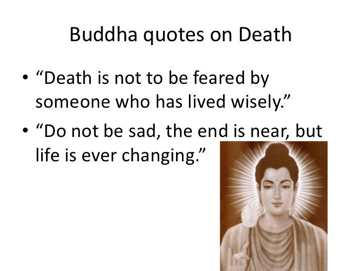 Buddha Death Quotes Buddhism and death